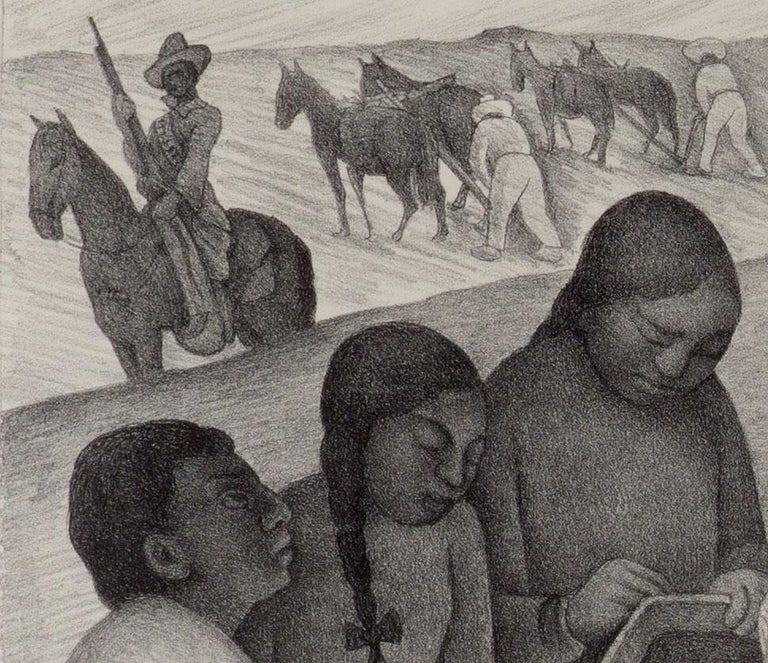 Open Air School (iconic image of indigenous teacher by Mexican muralist) - Modern Print by Diego Rivera