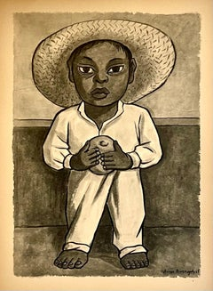Vintage 1948 Limited Edition (of 200) Lithograph by Mexican Master Diego Rivera