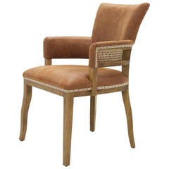 Diesel Brown Chair with Natural Genuine Leather
