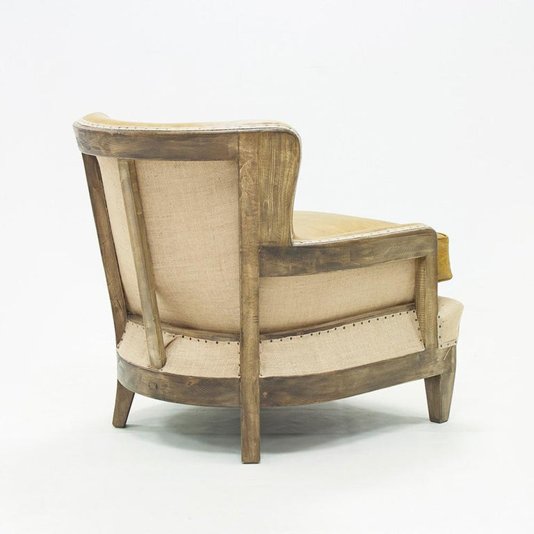 Hand-Crafted Diesel Camel Armchair with Natural Camel Genuine Leather For Sale