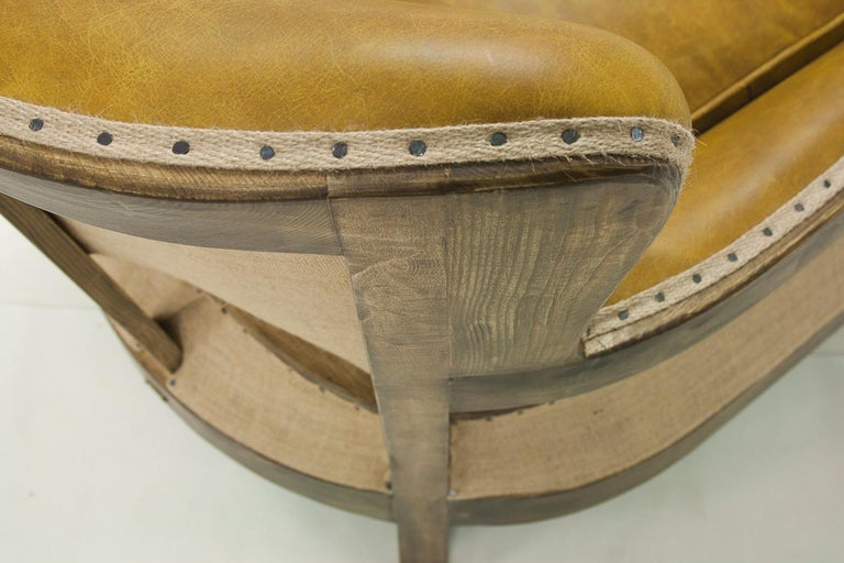 Contemporary Diesel Camel Armchair with Natural Camel Genuine Leather For Sale