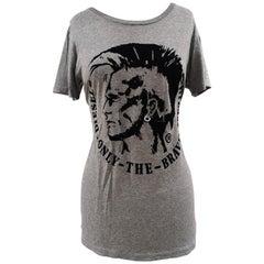 Diesel grey black velvet t-shirt