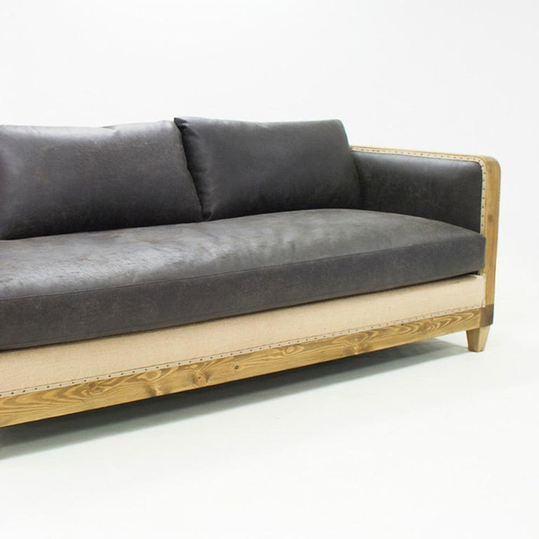 Diesel Grey Sofa Left or Right with grey Vintage Leather For Sale 1