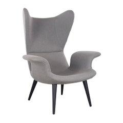 Diesel Longwave Wingback Armchair in Grey Wool by Moroso, Italy