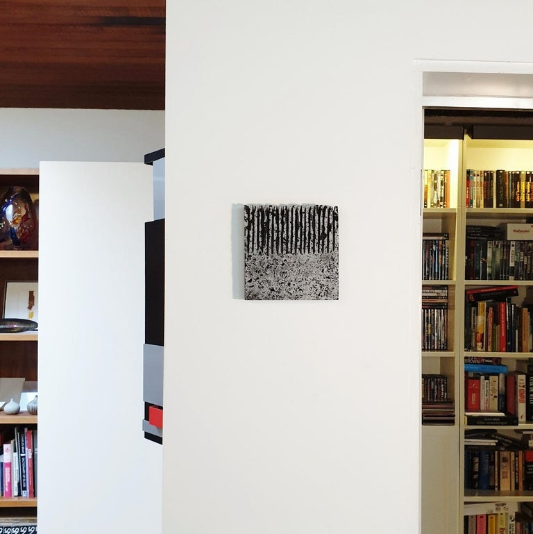 o.T. (Bk15Hf) - grey black contemporary modern wall sculpture painting relief - Sculpture by Dieter Kränzlein