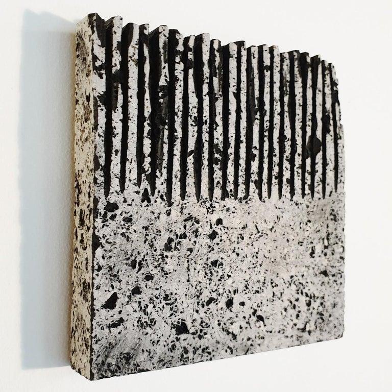 o.T. (Bk15Hf) - grey black contemporary modern wall sculpture painting relief - Contemporary Sculpture by Dieter Kränzlein