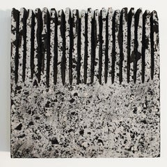 o.T. (Bk15Hf) - grey black contemporary modern wall sculpture painting relief