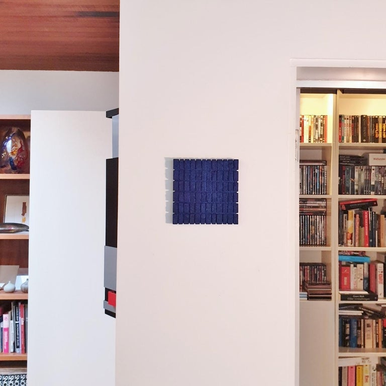 o.T. (Bl15Rc) - blue contemporary modern wall sculpture painting relief - Sculpture by Dieter Kränzlein