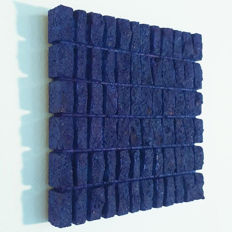 o.T. (Bl15Rc) - blue contemporary modern wall sculpture painting relief - Contemporary Sculpture by Dieter Kränzlein