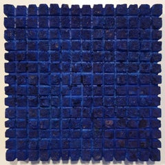 o.T. (Bl15SqS) - blue contemporary modern wall sculpture painting relief