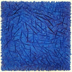 o.T. blau - contemporary modern abstract organic sculpture painting relief