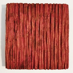 o.T. (Rd15Vt) - red contemporary modern wall sculpture painting relief