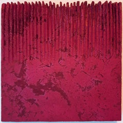 o.T. (Rd22Hf) - red contemporary modern wall sculpture painting relief