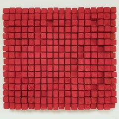 o.T. rot - contemporary modern abstract geometric sculpture painting relief