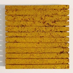 o.T. (Yw15Ln) - yellow contemporary modern wall sculpture painting relief