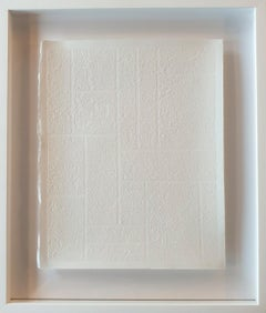 o.T. weiss - contemporary modern abstract geometric stone cut monotype print