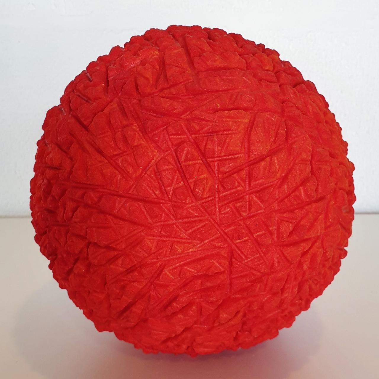 o.T. orange rot - contemporary modern abstract organic sculpture