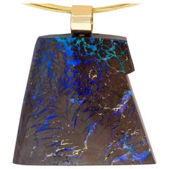 Dieter Lorenz Boulder Opal Necklace in 14 Karat Gold
