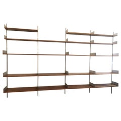 Dieter Rams 606 Shelving System Aluminum and Walnut