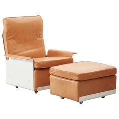 Dieter Rams 620 Armchair and Footstool Vitsoe