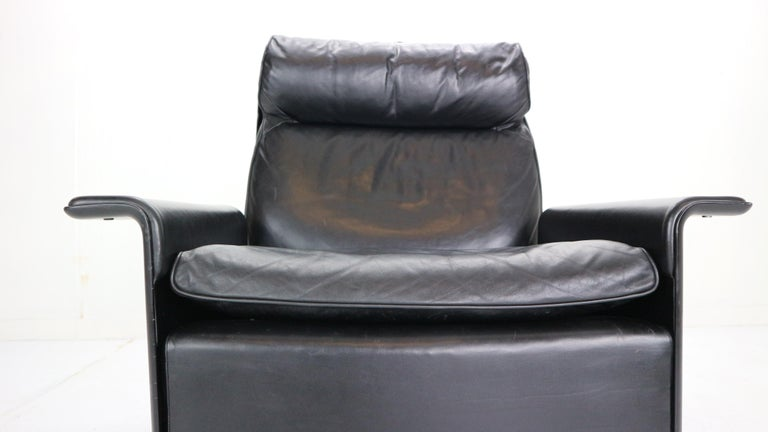 Dieter Rams Black Leather Lounge Chair Model-620 for Vitsœ, 1970s For Sale 4