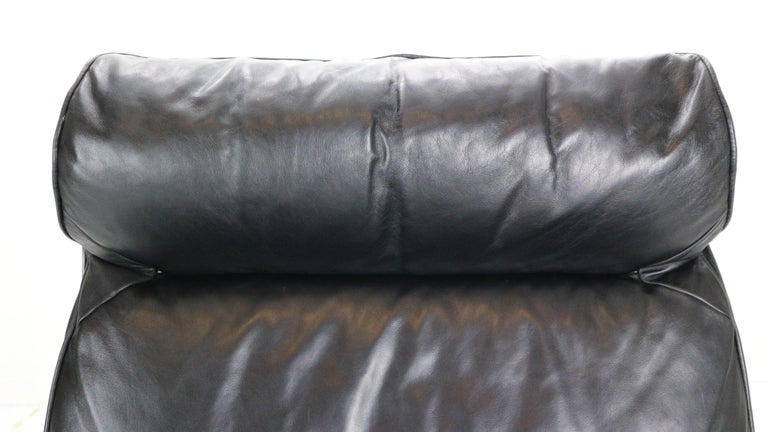 Dieter Rams Black Leather Lounge Chair Model-620 for Vitsœ, 1970s For Sale 9