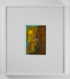 Ohne Titel // Untitled // Postcard // Oil and ink // monogrammed twice by Roth