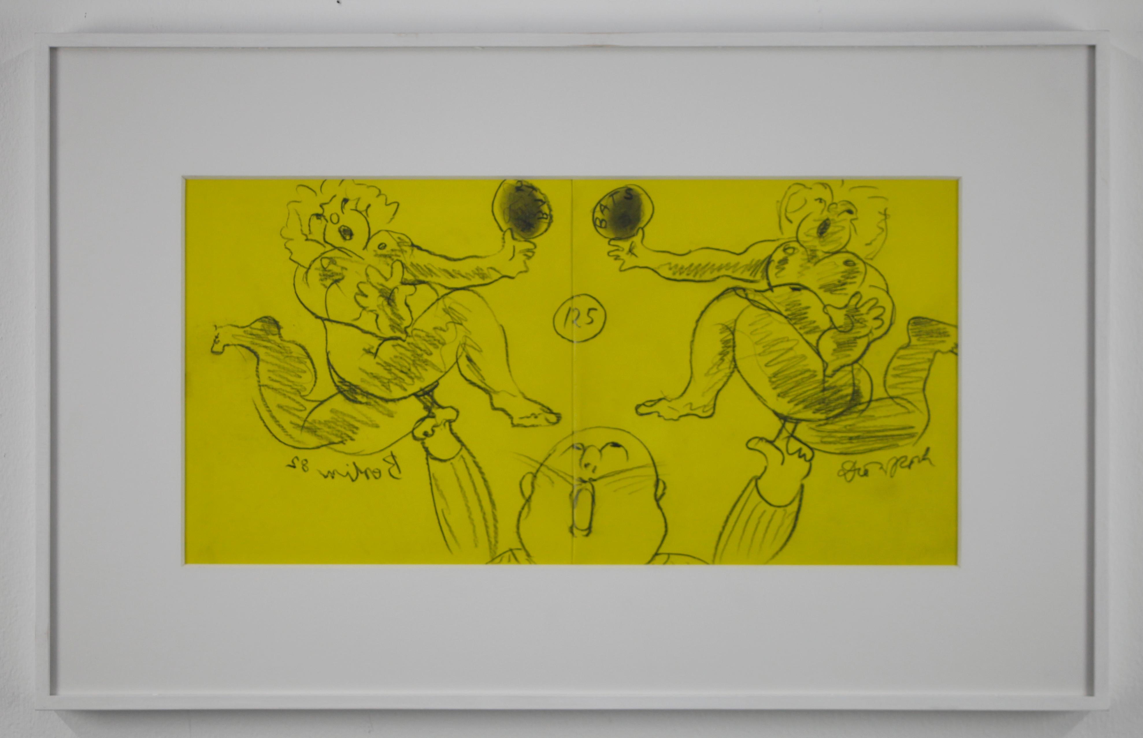 """Buch """"Bats"""" mit Original Zeichnung / Book """"Bats"""" with original drawing // Offset"""