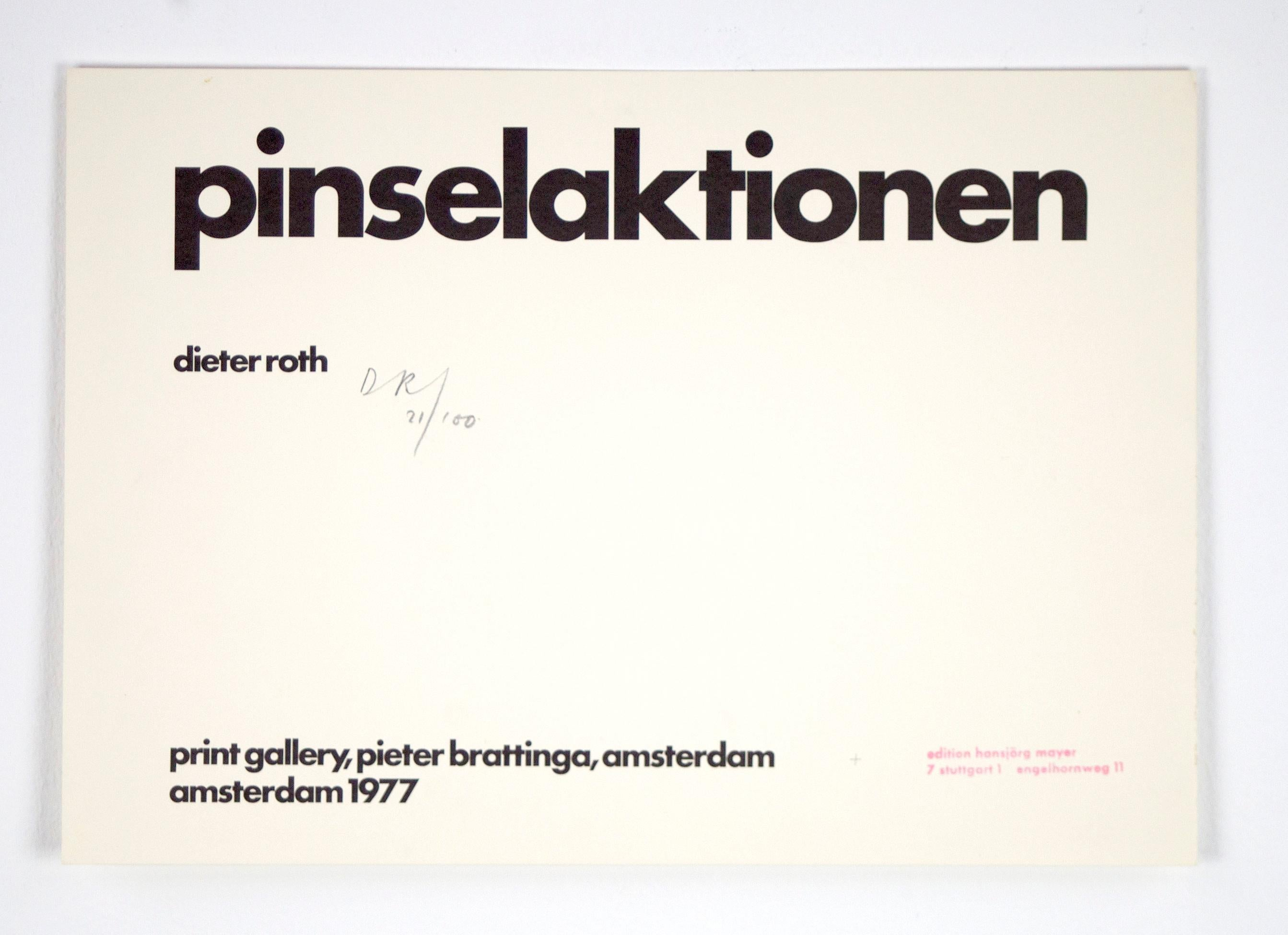 Pinselaktion // Brushaction // 30 prints and two text pages // signed by Roth