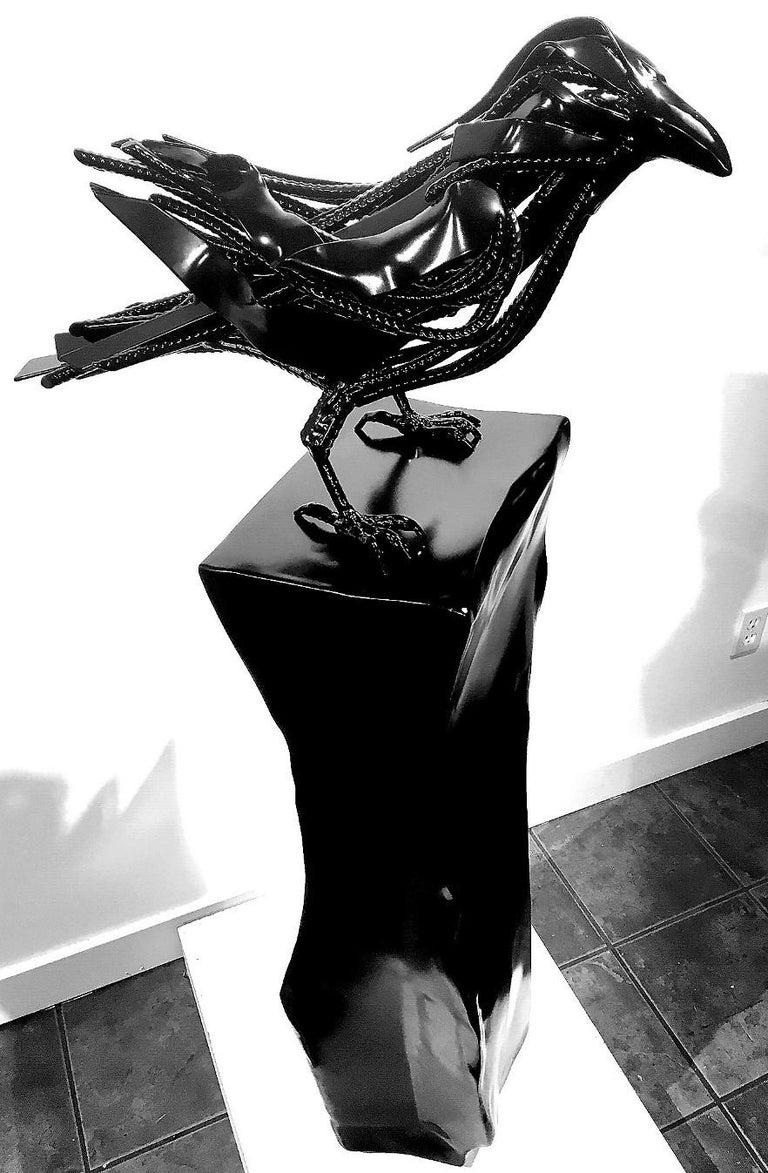 Original mixed media sculpture by Dieter Schlatter  BLACK VELVET For Sale 2