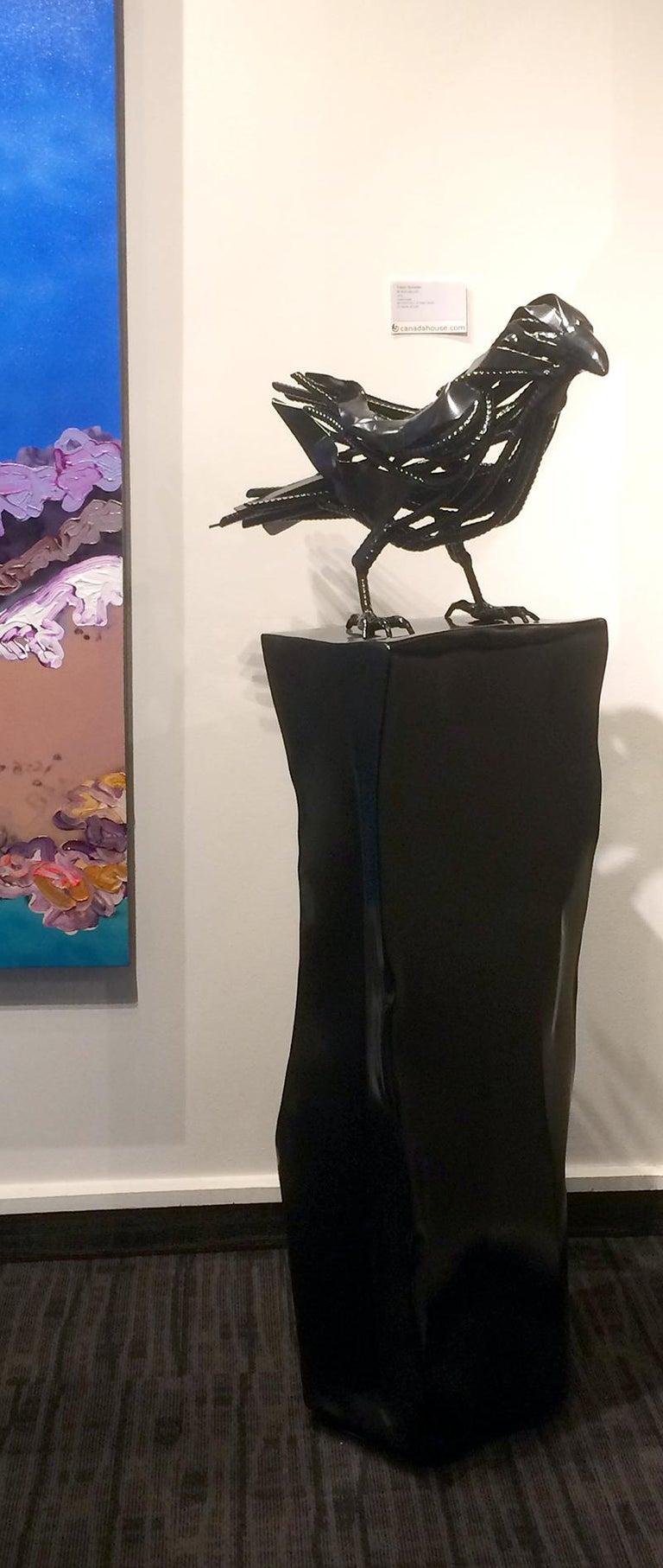 Original mixed media sculpture by Dieter Schlatter  BLACK VELVET For Sale 3