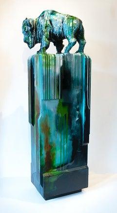 Original mixed media sculpture by Dieter Schlatter  THE SHAPE OF ATTITUDE