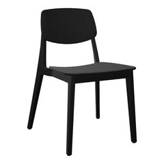 Dietiker Felber C14 Dining Chair, Patented Modular Design, Black Beech