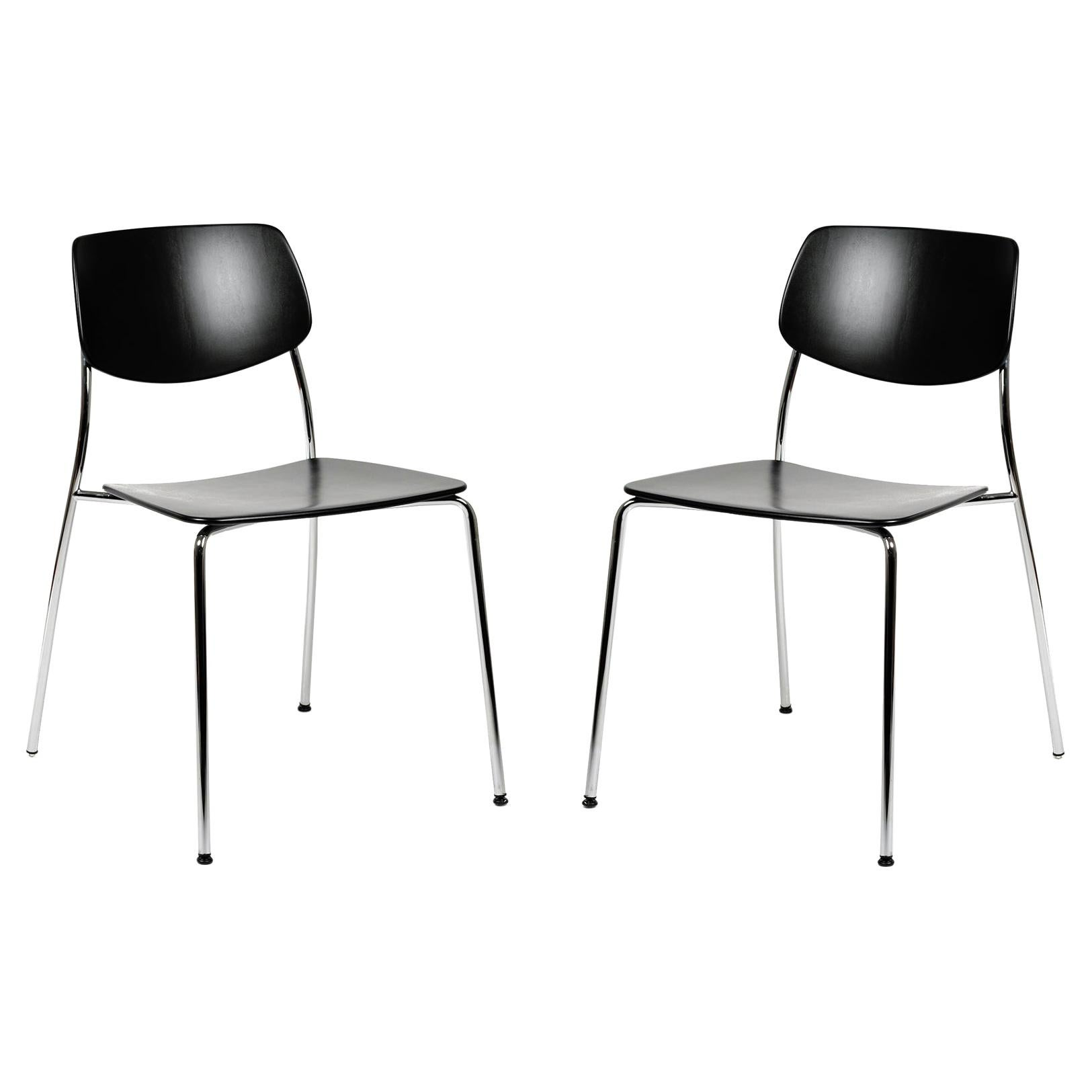 Dietiker Felber C14 Metal Dining Chair, Modular Design, Set of 2