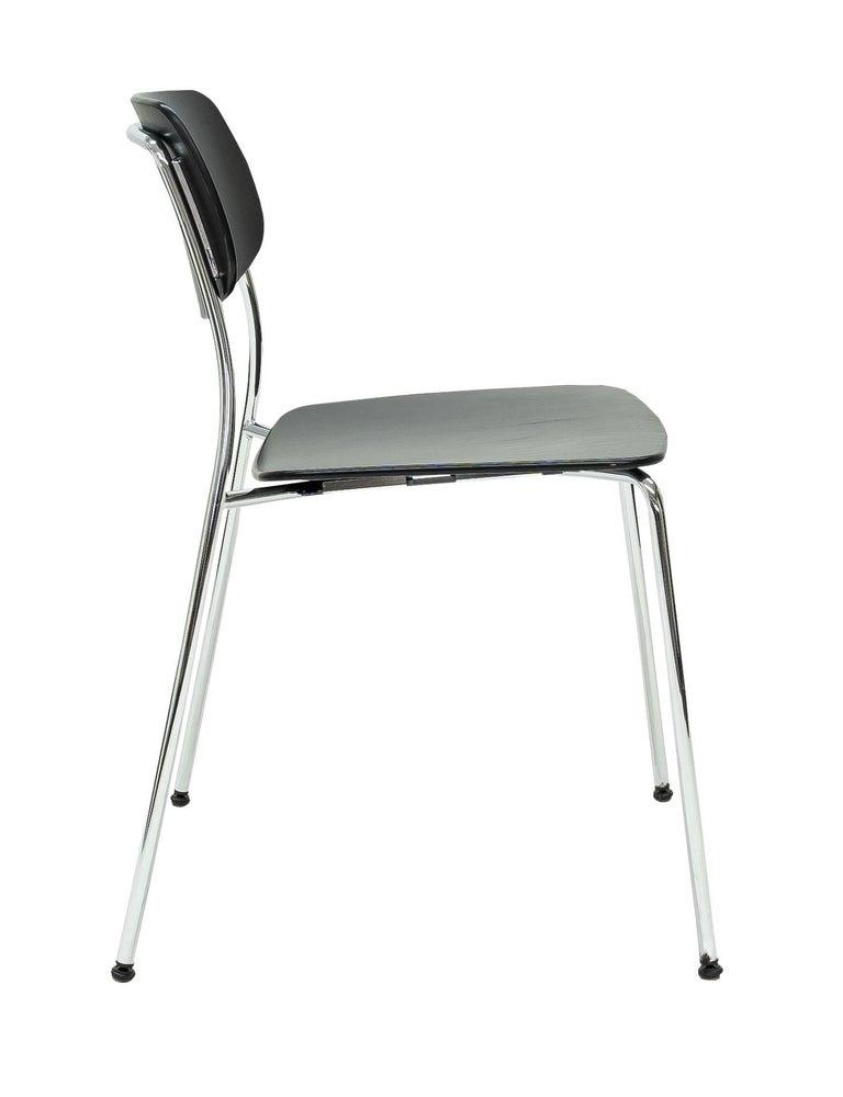 Modern Dietiker Felber C14 Metal Dining Chair, Modular Design, Set of 4 For Sale