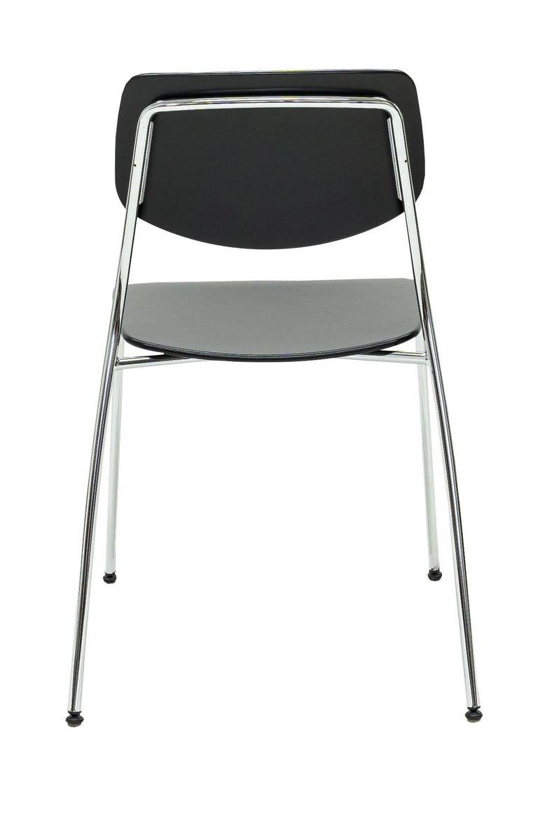 Swiss Dietiker Felber C14 Metal Dining Chair, Modular Design, Set of 4 For Sale