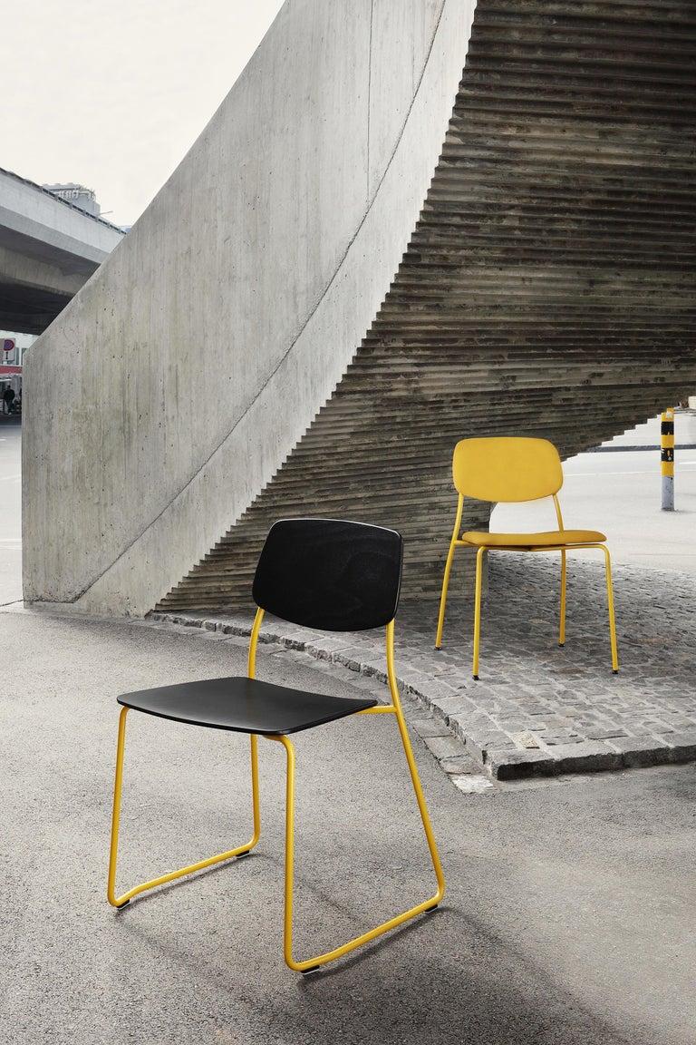 Dietiker Felber C14 Metal Dining Chair, Modular Design, Set of 4 For Sale 3