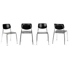 Dietiker Felber C14 Metal Dining Chair, Modular Design, Set of 4