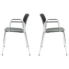 Dietiker Felber C14 Metal Dining Chair with Arms, Modular Design, Set of 2