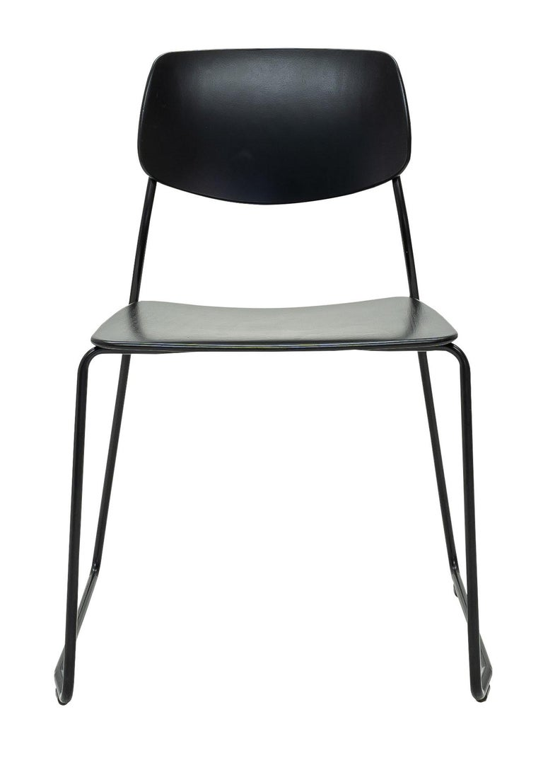 The Felber C14 is a reedition of a 1940s Classic Dietiker chair. The chair which was at first developed as a simple wooden chair in the early 40s, has been reengineered into a modular patented program.  The innovative concept of the Felber series