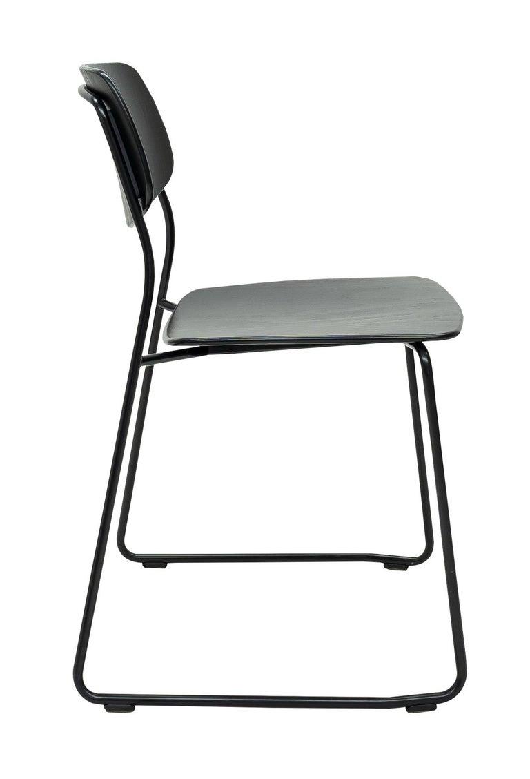 Modern Dietiker Felber C14 Sled Dining Chair, Modular Design, Set of 4 For Sale