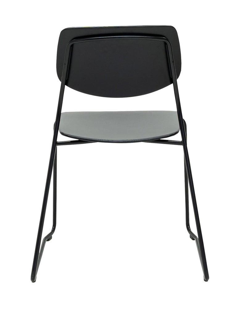 Swiss Dietiker Felber C14 Sled Dining Chair, Modular Design, Set of 4 For Sale