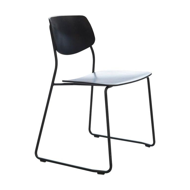 Dietiker Felber C14 Sled Dining Chair, Modular Design, Set of 4 In New Condition For Sale In Stein am Rhein, CH