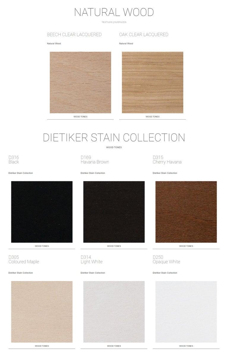 Metal Dietiker Felber C14 Sled Dining Chair, Modular Design, Set of 4 For Sale