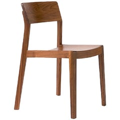 Dietiker Ono Swiss Dining Chair, Design by This Weber, in Walnut, in Stock