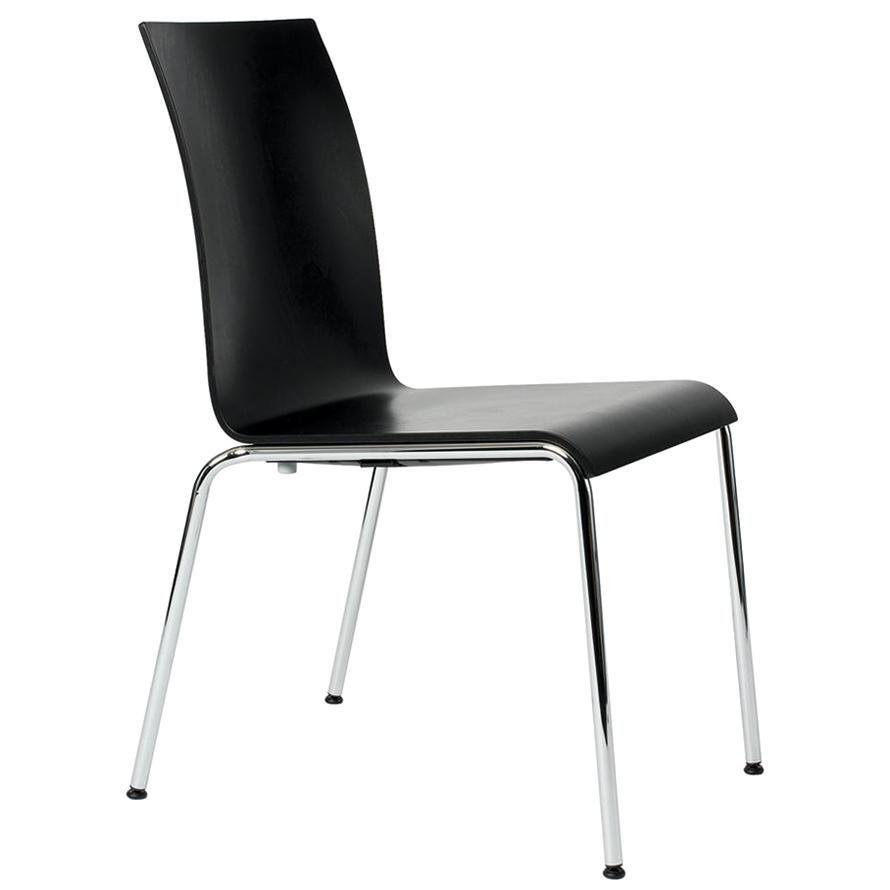 Dietiker Poro L, Swiss Chair, Beech Wood, Black, in Stock