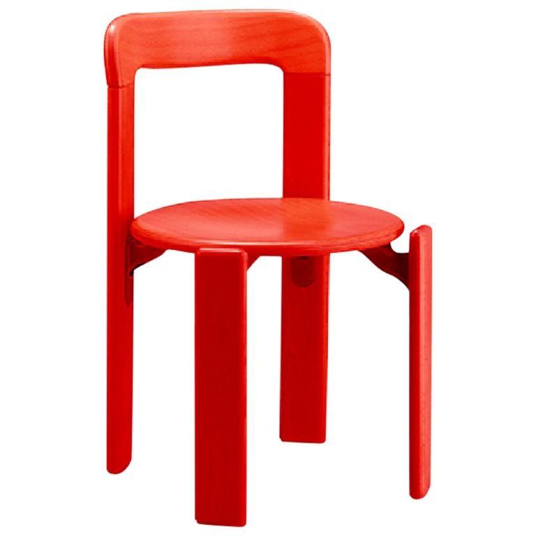 Dietiker Rey Jr, Children chair in Red, design Bruno Rey, 1971