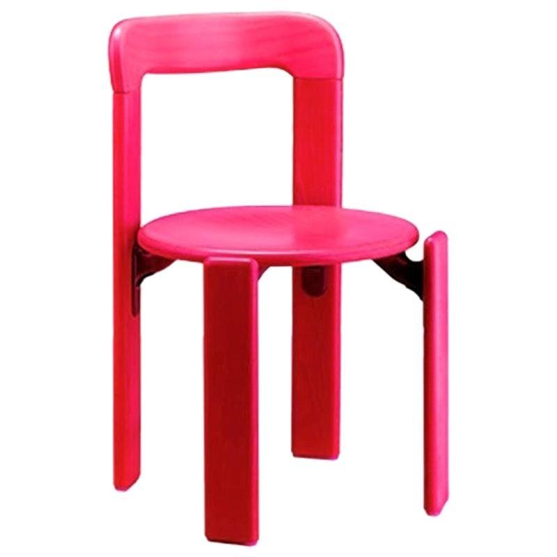 Dietiker Rey Junior Chair, Mid-Century Modern, Beech Wood, Designed by Bruno Rey