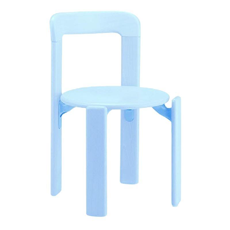 Dietiker Rey Jr, Children Solid Wood Chair in Blue by Bruno Rey