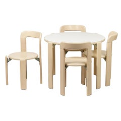 Dietiker Rey Junior Set, Kids Table and Chairs in Maple, Designed by Bruno Rey